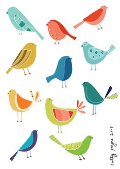 Illustration birds u...