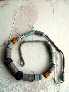 Paper necklace-long necklace of by Coccidicarta on Etsy