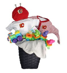 Calgary Flames Red Baby Basket