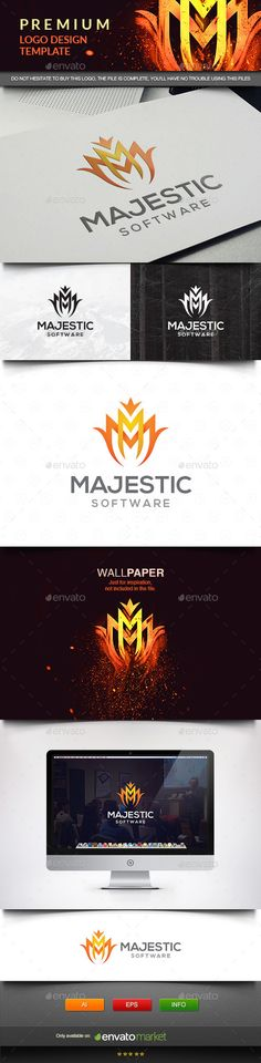 Majestic - Letter M Logo Design Template Vector #logotype Download it here: http://graphicriver.net/item/majestic-letter-m/11576223?s_rank=775?ref=nesto