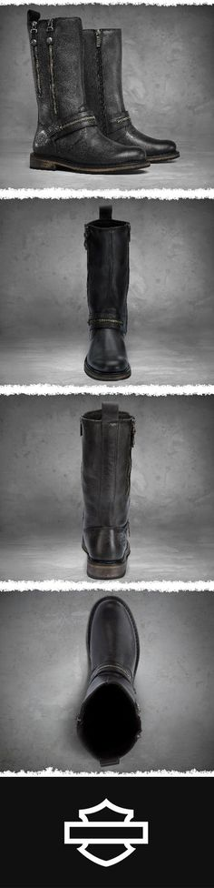 Complete your look from head to toe.   Harley-Davidson Women's Sackett Boots - Black #MothersDay