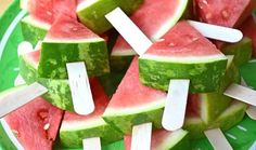 "Such a simple, but fabulous idea! ""Backyard BBQ Birthday Bash"" I love the watermelon slices on Popsicle sticks. Easy for serving! Birthday Bbq, Summer Birthday, Fruit Birthday, Backyard Birthday, Birthday Woman, Happy Birthday, Snacks Für Party, Party Appetizers, Fruit Party"