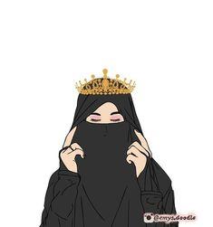 Cartoon Girl Images, Cartoon Art Styles, Girl Cartoon, Cute Muslim Couples, Muslim Girls, Cute Girl Wallpaper, Cartoon Wallpaper, Hijab Musulman, Hijab Dress