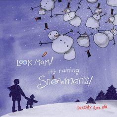 Raining snowmen