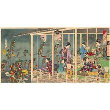 豊原周延: Tanabata Festival — 七夕之図 - Japanese Art Open Database
