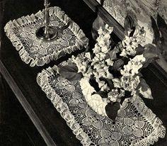 Crochet dressing table sets on pinterest dressing tables - Set de table crochet ...