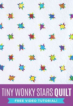 Make a Tiny Wonky Stars Quilt with Jenny Doan and her FREE Quilting Tutorials!