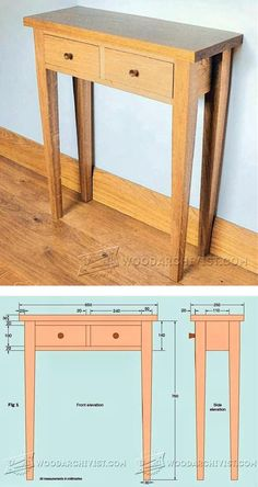 Hall Table Plans - Furniture Plans and Projects | WoodArchivist.com: