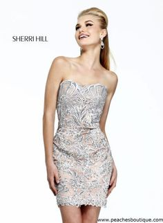 Sherri Hill Short Homecoming Dress 21189 at Peaches Boutique