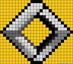 Renault logo perler bead pattern