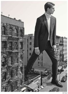 Jeremy Matos + Richard Detwiler are Larger Than Life for Details Fall 2014 Suiting Fashion Editorial image Details Fall 2014 Suiting 004