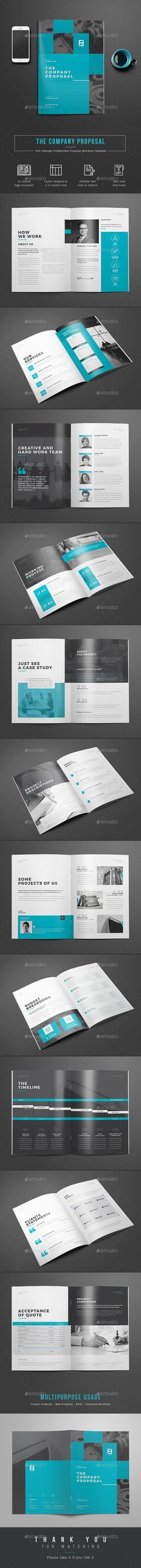 Professional Business Proposal Template … | Pinteres…