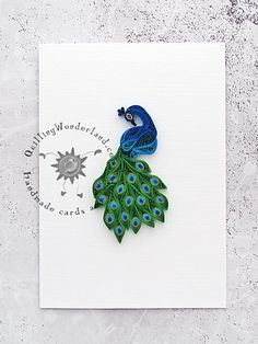 paper art peackock quilling wonderland