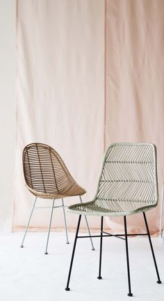 In a world of natural materials and the trend for bringing the outdoors inside, it was only a matter of time before the Rattan Chair would make a comeback.