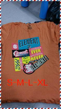 Free shipping orange/black/gray 6style 2014 fashion hot sale men t shirts element skate board cotton round neck short sleeve Tee $17.69