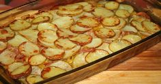 Potatoes with bacon and courgettes # food recipes cooking Trout Recipes, Fried Fish Recipes, Good Food, Yummy Food, Shellfish Recipes, Winter Food, Winter Meals, Casserole Recipes, Chicken Casserole