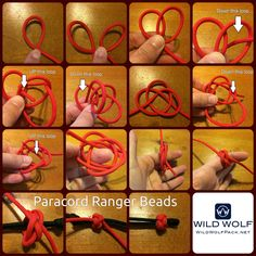 This week's paracord project is a paracord ranger bead. This is made out of a single piece of paracord and is a great use for scraps. In the next few weeks I will show you many uses for these rang… Paracord Zipper Pull, Paracord Beads, Paracord Keychain, Diy Keychain, Paracord Bracelets, Knot Bracelets, Survival Bracelets, Monkey Knot, Lanyard Knot