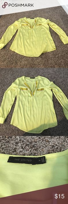 Yellow blouse Like new The Limited Tops Blouses