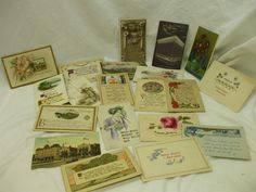 VINTAGE POSTCARDS! LOT OF 20 POSTCARDS! ALL DATED OCT.1913! ALL STAMPED! AS IS! #Birthday