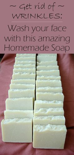 Get Rid Of Wrinkles: Wash Your Face With This Amazing Homemade Soap! Get Rid Of Wrinkles: Wash Your Face With This Amazing Homemade Soap! Creme Anti Age, Anti Aging Cream, Homemade Skin Care, Homemade Beauty Products, Homemade Moisturizer, Natural Products, Organic Skin Care, Natural Skin Care, Natural Beauty