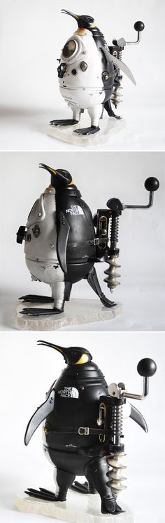 Hello, my name is Artūras and I'm from Lithuania. I create steampunk art and use various antique stuff and metal details. I hope to get some support from you. - Royal Penguin