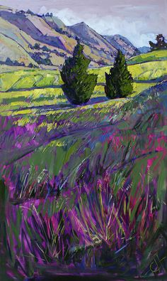Pair At Paso Painting by Erin Hanson