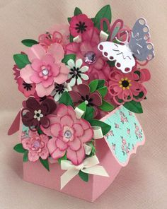 Scan n Cut......Pretty in Pink Box Card