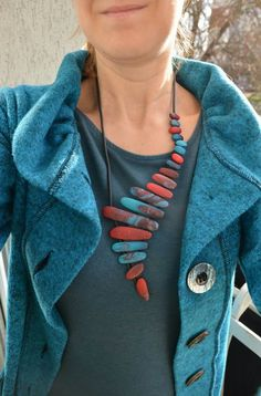 Statement piece #PolymerClayJewelry