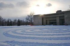 Snow spiral in Wilder Bowl.