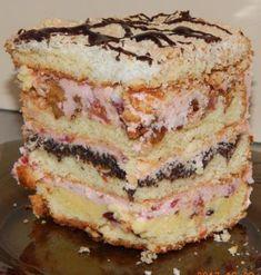 Пляцок Бандерівський Тісто:      * 600гр муки    *6 жовтків     * 250 гр цукру    * 250 гр маргарину    * 1,5 пач порошку до печива     *6 ст л сметани/  *Крем:*      * 400 мл вишневого соку ( я взяла пакетований, заводський)    * 1 пач вишневого пудингу (польський Budyn)    * 4 ст л цукру    * 300 гр масла Hungarian Cake, Traditional Cakes, Cakes And More, No Cook Meals, Vanilla Cake, Food Videos, Baking Recipes, Sweet Tooth, Bakery