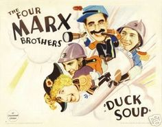 Duck Soup Movie Poster the Marx Brothers Rare Vintage 4