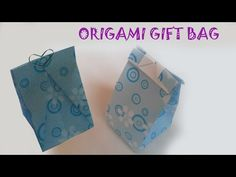 Origami Gift Bag Tutorial DIY - YouTube