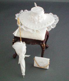 Special Occasion Hat Ensemble -bridal white-