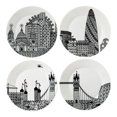 Discover the Royal Doulton London Calling Plates - Set of 4 at Amara