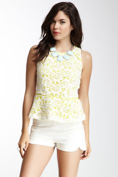Peplum Lace Tank by Greylin on @nordstrom_rack
