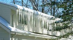 How to prevent ice dams! Ice dams cause leaks and water damage during the winter months. is a great way to help reduce and prevent the occurrence of ice dams. Ice Dam Removal, Ice Dams, Water Damage Repair, Steel Roofing, Roofing Shingles, Asphalt Shingles, Shed Roof, Roof Styles, Roof Architecture