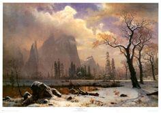 aritst Albert Bierstadt  paints Yosemite!