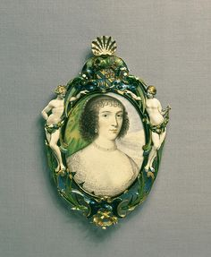 Miniature portrait set in a jewel of Venetia Stanley, Lady Digby (1600-1633)