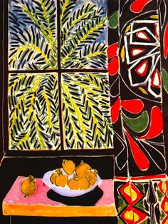 Henri Matisse, Interior with Egyptian Curtain on ArtStack #henri-matisse #art