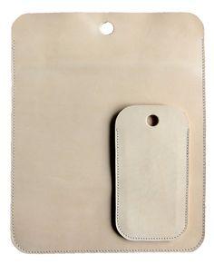 Beautiful simple set  iPad & iPhone holder nude.
