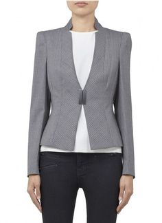 ARMANI COLLEZIONI Pin striped stretch wool blazer