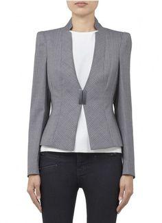 ARMANI COLLEZIONI Pin striped stretch wool blazer