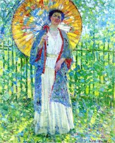 p+Frederick+Frieseke+(1874-1939)+The+Japanese+Parasol.jpg (739×920)