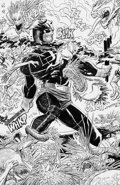 "phillginder: ""ungoliantschilde: ""some black and white Daredevil art by John Romita, Jr. Artist, Comic Book Pages, John Romita Jr, Comic Books Art, Marvel Comic Universe, Cartoons Comics, Romita, Jr Art"