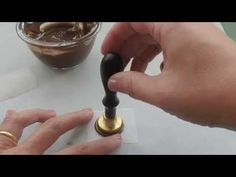 How to stamp chocolate - YouTube