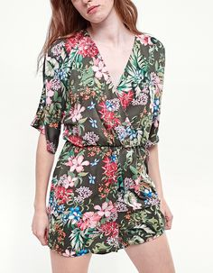 b1048809c4181 At Stradivarius you ll find 1 Printed kimono jumpsuit for just 6995 Hungary  . Visit now to discover this and more Clothing.