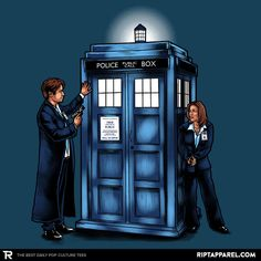 The Agents have the Phone Box T-Shirt - X-Files T-Shirt is $11 today at Ript!