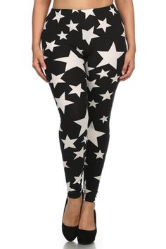 Dress up your outfit with this constellation print leggings. Pair it with one of your casual tops and you are ready for another comfortable day. Perfect for most plus sizes. - Fabric: 92% Polyester |