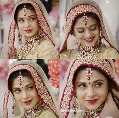 Beautiful Girl In India, Beautiful Bride, Pakistani Bridal, Indian Bridal, Sari, Jennifer Love, Jennifer Winget, Celebs, Celebrities