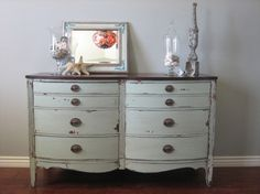 Love the dresser and the paint job!